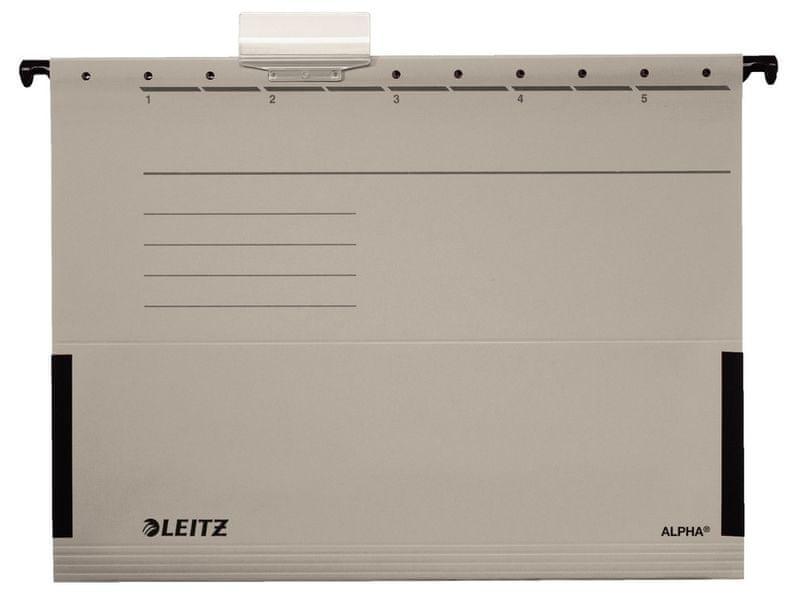 Závěsné desky Leitz ALPHA s bočnicemi šedé