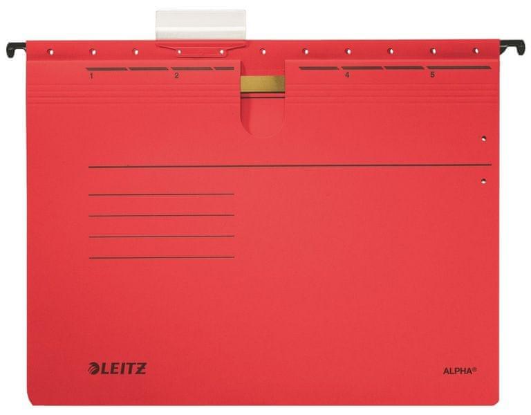 Závěsné desky ALPHA s rychlovazačem červené