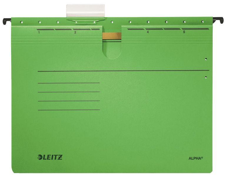 Závěsné desky ALPHA s rychlovazačem zelené