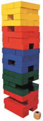 Albi Jenga barevná velká s kostkou