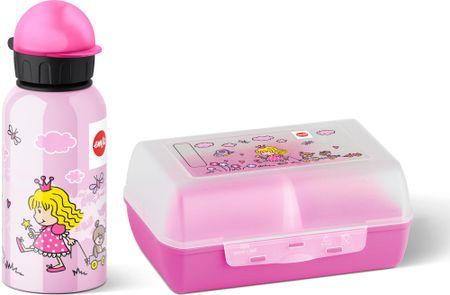 Emsa set Princess - steklenica 400 ml in posoda za malico