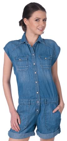 Pepe Jeans ženski jeans kombinezon Ivy M modra