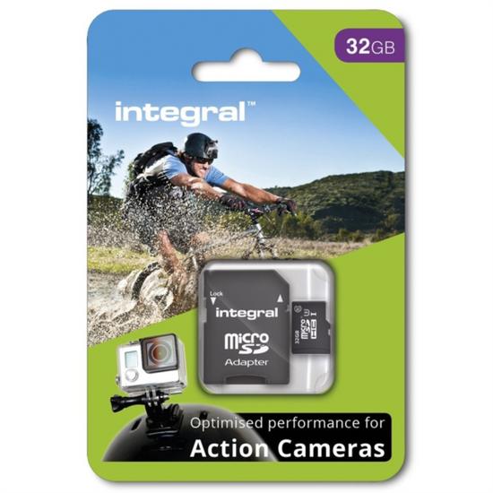 Integral spominska kartica MicroSDHC 32 GB, Class 10 U3 + adapter