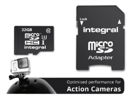 Integral spominska kartica MicroSDHC 64 GB, Class 10 U3 + adapter