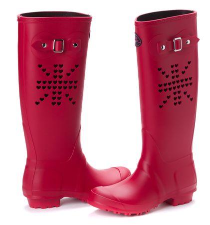 Mei ženski gumijasti škornji 39 rdeča