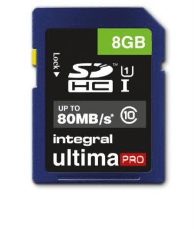Integral spominska kartica SDHC UltimaPro 8 GB, Class 10 U1