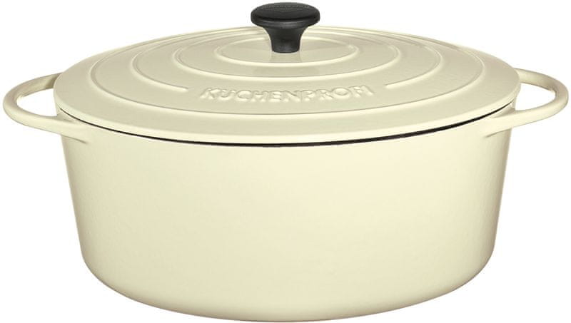 Küchenprofi Hrnec na pečení Provence oválný krémový, 35 cm