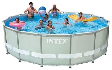 Intex bazen Ultra Frame Set 549 × 132 cm, s peščeno črpalko, lestev, podloga, prevleka (28332NP)
