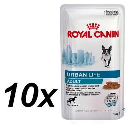 Royal Canin mokra hrana za odrasle pse Urban Life, 10 x 150 g