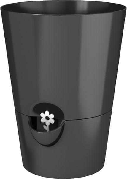 Emsa Samozavlažovací květináč na bylinky černá