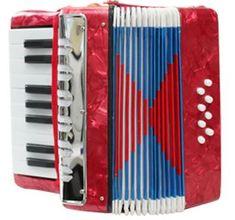 Unikatoy harmonika 17K/8B (22290), rdeča