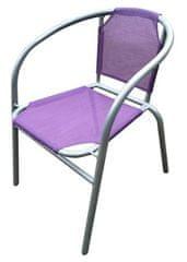 Happy Green jeklen stol Textilen, vijoličen, poškodvan tekstil - Odprta embalaža