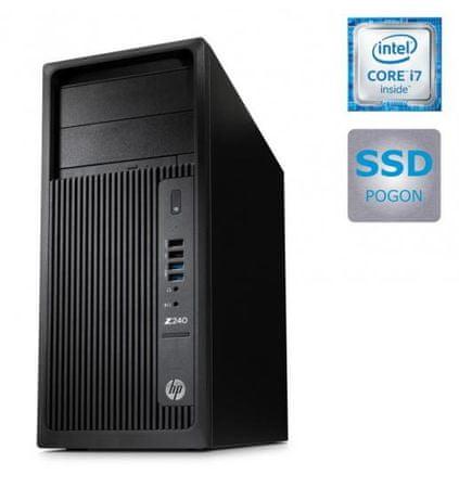 HP namizni računalnik Z240 T i7/16/SSD/W10-7
