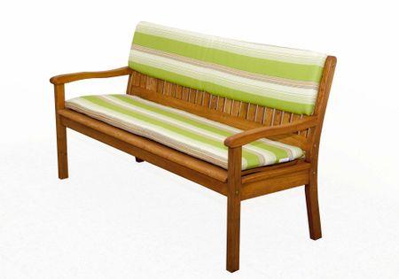 Doppler sedák na lavici bílá/zelená