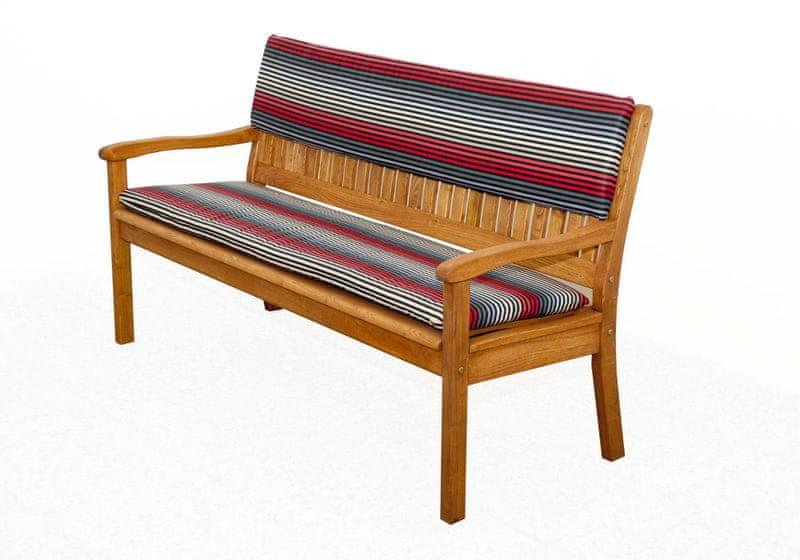 Doppler sedák na lavici tmavě šedá/červená