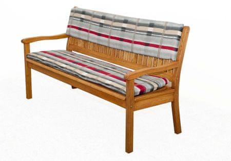 Doppler sedák na lavici bílá/červená