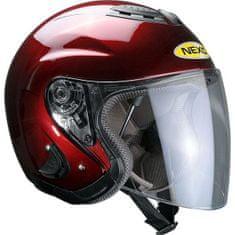 Nexo čelada Rider II Travel, bordo rdeča