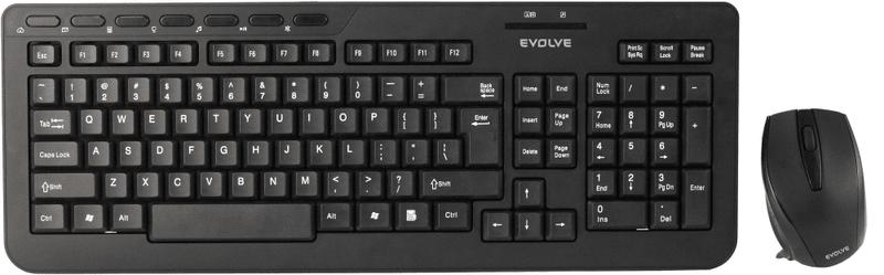 Evolveo WK-210 set bezdrátové klávesnice a myši