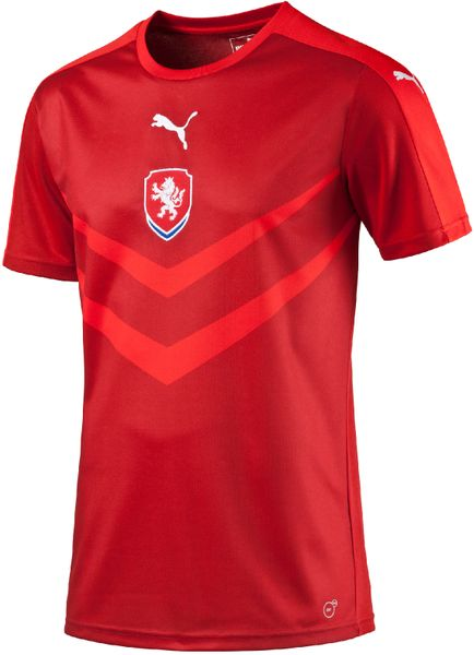 Puma Czech Rep Home B2B Shirt Jr chili 128