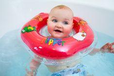 Teddies BABY Kółko do pływania dla niemowląt Flipper czerwone