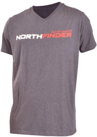 Northfinder majica Kameron, crna, M