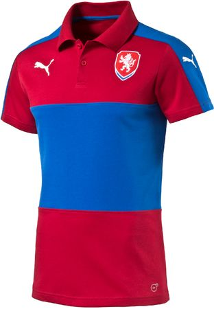 Puma koszulka Czech Republic Casuals Polo chili pepper S