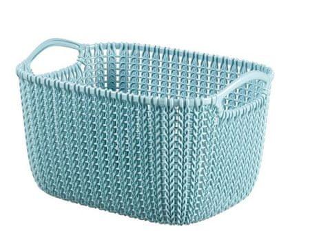Curver pravokotna košara Knit, S, sivo modra