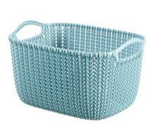 Curver pravokotna košara Knit, XS, modra