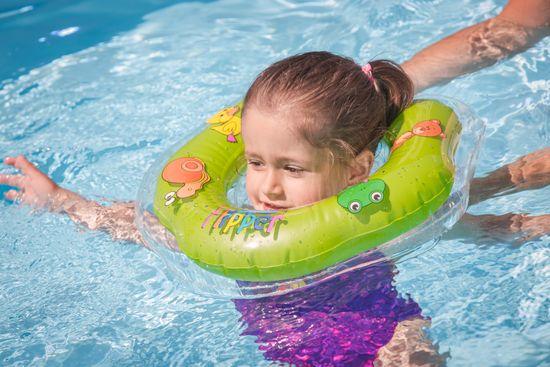 Teddies BABY Kółko do pływania dla niemowląt Flipper zielone