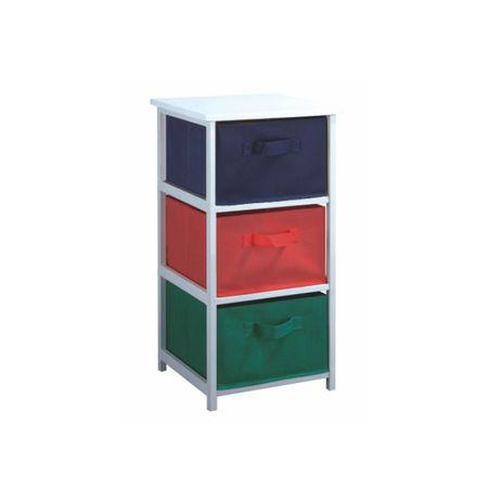 Regál COLOR 94, biely rám/farebné boxy