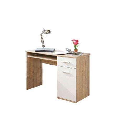 PC stôl EMIO TYP 6, dub sonoma/biela