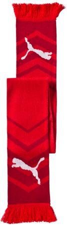 Puma szalik Czech Republic Fanscarf red-chili pepper
