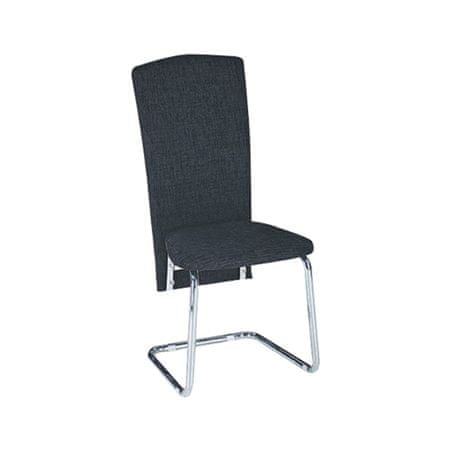 Jedálenská stolička JULY, čierna ekokoža/chróm