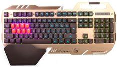 A4Tech Bloody B418 podsvícená herní klávesnice, USB, CZ, stříbrná barva - rozbaleno