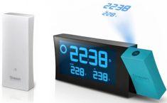 OREGON SCIENTIFIC zegar BAR223PN Prysma B z projektorem i prognozą pogody - niebieski