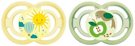 MAM Dudlík Perfect 16+m - 2 kusy, žlutá+zelená