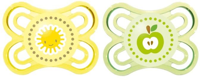 MAM Dudlík Perfect 0-6m - 2 kusy, žlutá+zelená