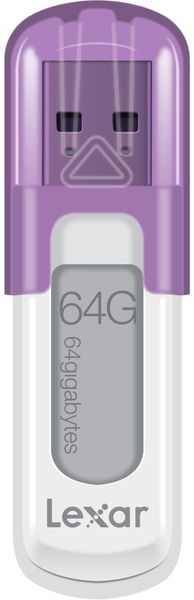 Lexar JumpDrive V10 64GB / USB 2.0 / White-Purple (LJDV10-64GABEU)