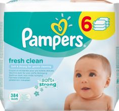 Pampers Vlhčené obrúsky Pampers Fresh Clean 6x64ks