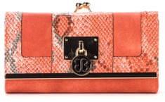 Bessie London portfel damski pomarańczowy
