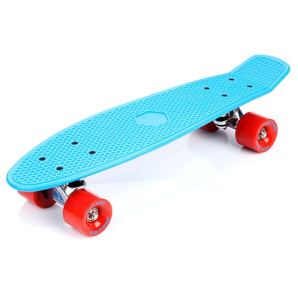 Meteor Fishboard neon blue/red/silver