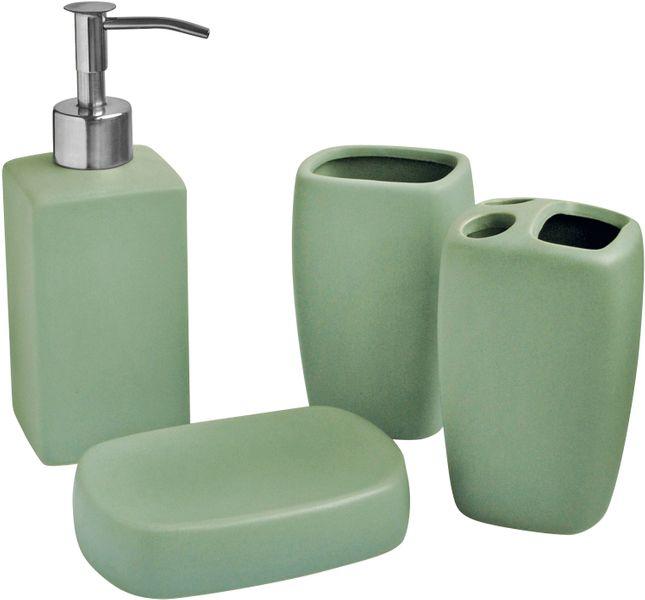 Toro Koupelnová sada 4 ks zelená