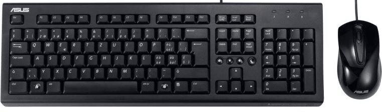 Asus U2000 set klávesnice + myš, drátová, černá
