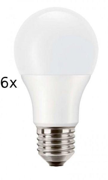 PILA LED E27 9,5-60W 827 set 6 ks