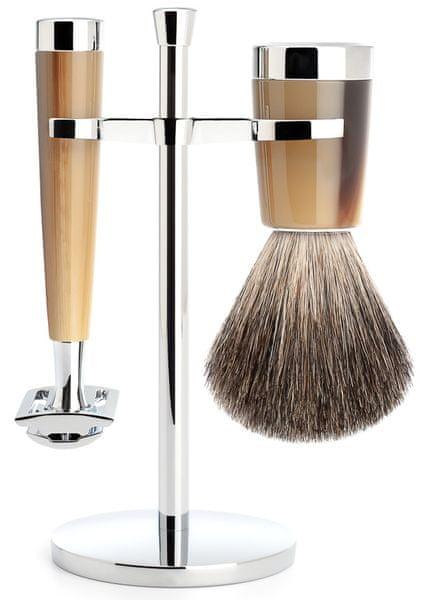 Mühle Liscio sada na holení, Pure Badger, žiletka, Brown