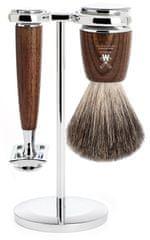 Mühle Rytmo sada na holení, Pure Badger, žiletka, Ash Wood