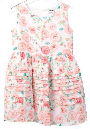 Primigi dekliška obleka 104 bela