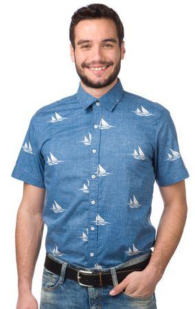Brakeburn moška srajca L modra