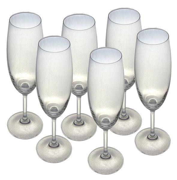 Toro Sklenice na šampaňské Lara 220 ml, 6 ks