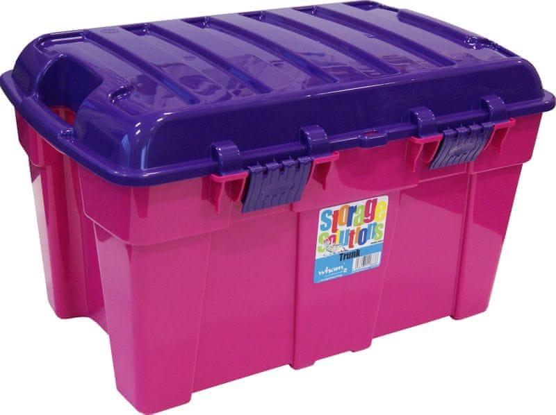 WHAM Box s víkem 50l růžový